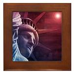 Patriotic Statue of Liberty Framed Tile