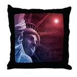 Patriotic Statue of Liberty Throw Pillow