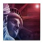 Patriotic Statue of Liberty Tile Coaster