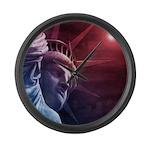 Patriotic Statue of Liberty Large Wall Clock