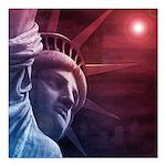 Patriotic Statue of Libe Square Car Magnet 3