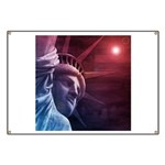 Patriotic Statue of Liberty Banner
