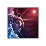 Patriotic Statue of Liberty Square Sticker 3