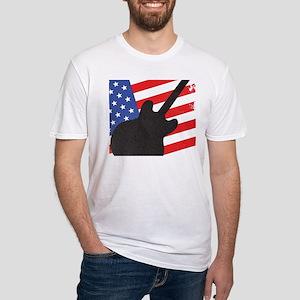 Guitar Silhouette Over Flag T-Shirt