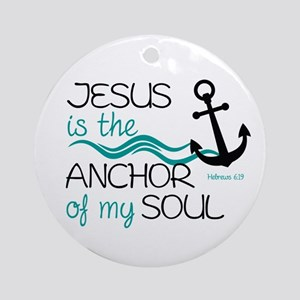 Jesus is the Anchor Round Ornament