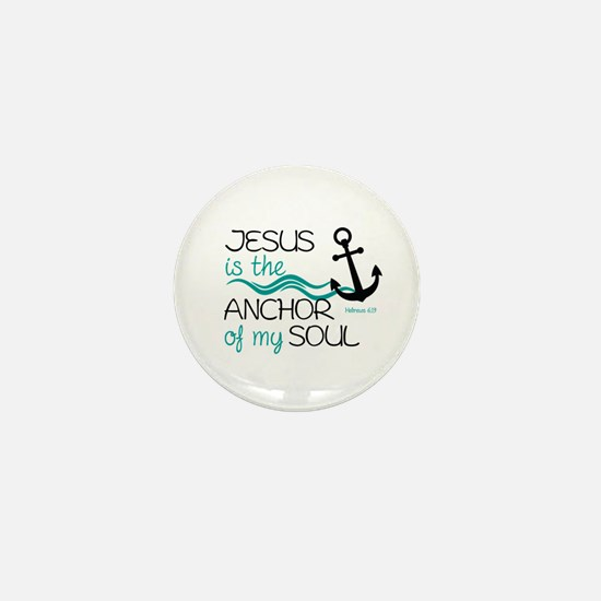 Jesus is the Anchor Mini Button