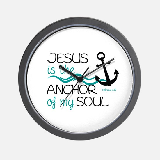 Jesus is the Anchor Wall Clock