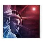 Patriotic Statue of Liberty King Duvet