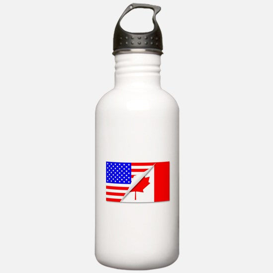 United States and Cana Water Bottle