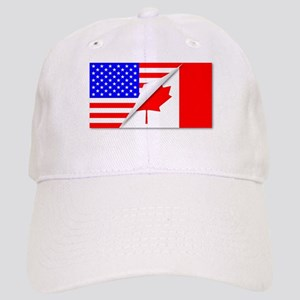 United States and Canada Flags Combined Cap
