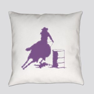 Purple Barrel Racer Female Rider Everyday Pillow