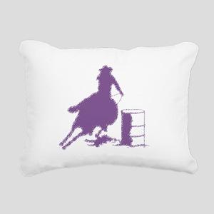 Purple Barrel Racer Fema Rectangular Canvas Pillow