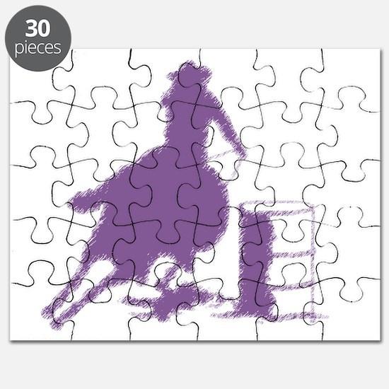 Purple Barrel Racer Female Rider Puzzle