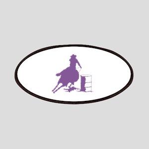Purple Barrel Racer Female Rider Patch