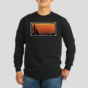 Arizona State License Plate Long Sleeve T-Shirt