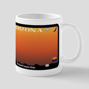 Arizona State License Plate Mugs