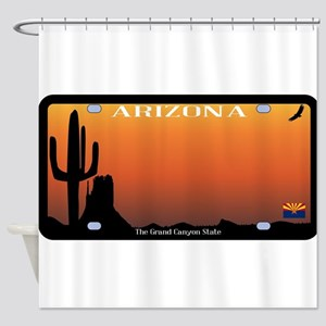 Arizona State License Plate Shower Curtain