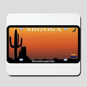 Arizona State License Plate Mousepad