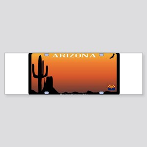 Arizona State License Plate Bumper Sticker