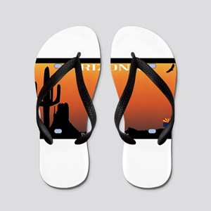 Arizona State License Plate Flip Flops