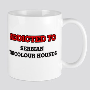 Addicted to Serbian Tricolour Hounds Mugs