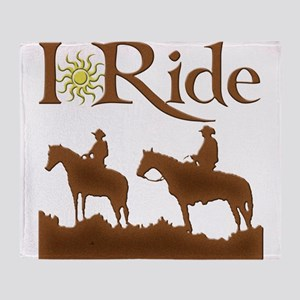 I ride brown Throw Blanket