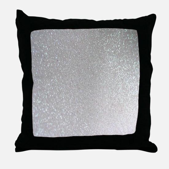 Unique Silver Throw Pillow