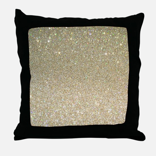 Unique Glittery Throw Pillow