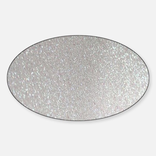 Funny Metallic Sticker (Oval)