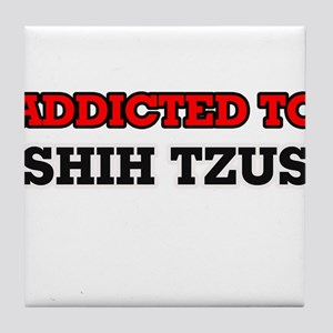 Addicted to Shih Tzus Tile Coaster