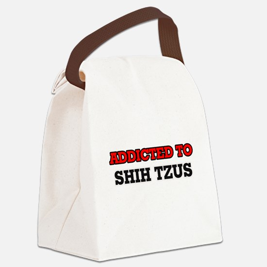 Addicted to Shih Tzus Canvas Lunch Bag