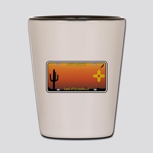 New Mexico License Plate Shot Glass