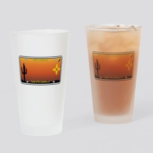 New Mexico License Plate Drinking Glass