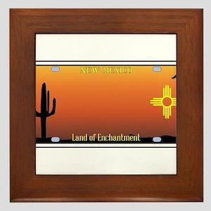 New Mexico License Plate Framed Tile