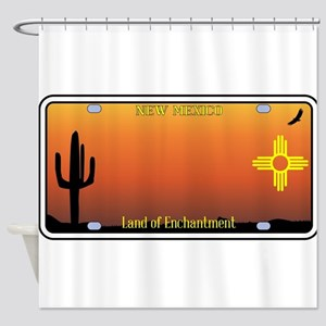 New Mexico License Plate Shower Curtain