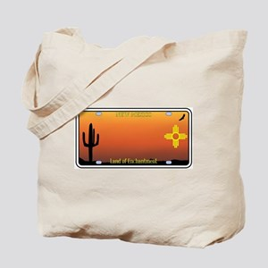 New Mexico License Plate Tote Bag