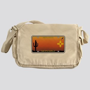 New Mexico License Plate Messenger Bag