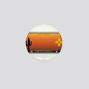 New Mexico License Plate Mini Button