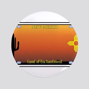 New Mexico License Plate Button