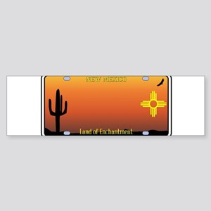 New Mexico License Plate Bumper Sticker