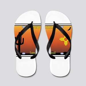 New Mexico License Plate Flip Flops