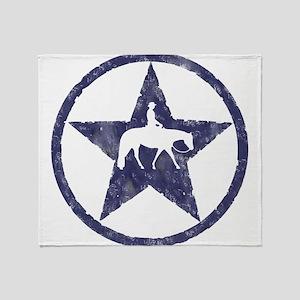 Texas star pleasure horse Throw Blanket