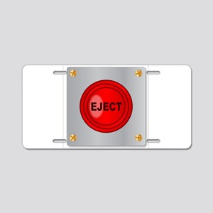 Eject Button Aluminum License Plate