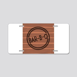 Bar BQ Aluminum License Plate