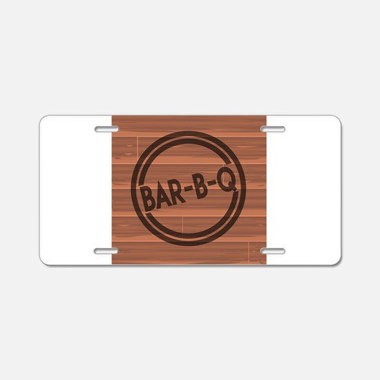 Bar BQ Aluminum License Plate