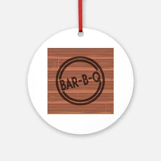 Bar BQ Round Ornament