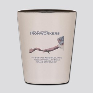 The Creation of Ironworkers Shot Glass