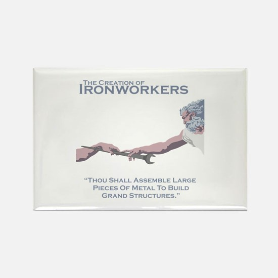 The Creation of Ironworkers Rectangle Magnet