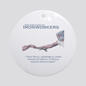 The Creation of Ironworkers Round Ornament