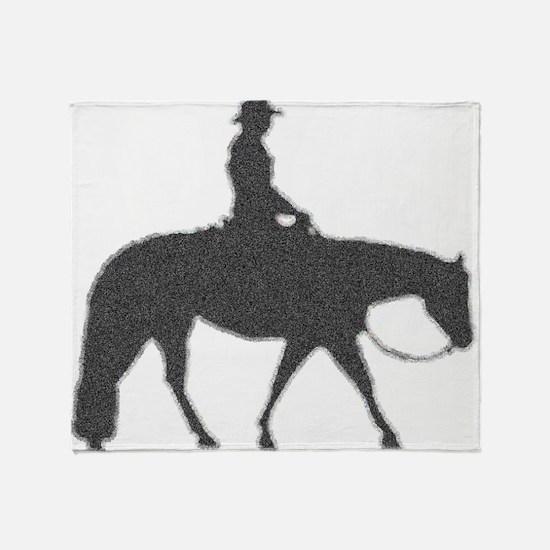 western pleasure pixels Throw Blanket